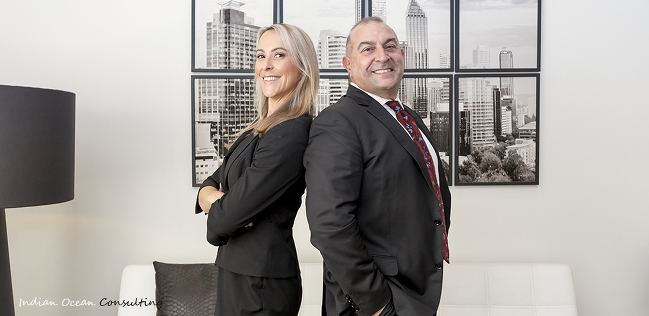 Corporate team shots - executive and his assistant