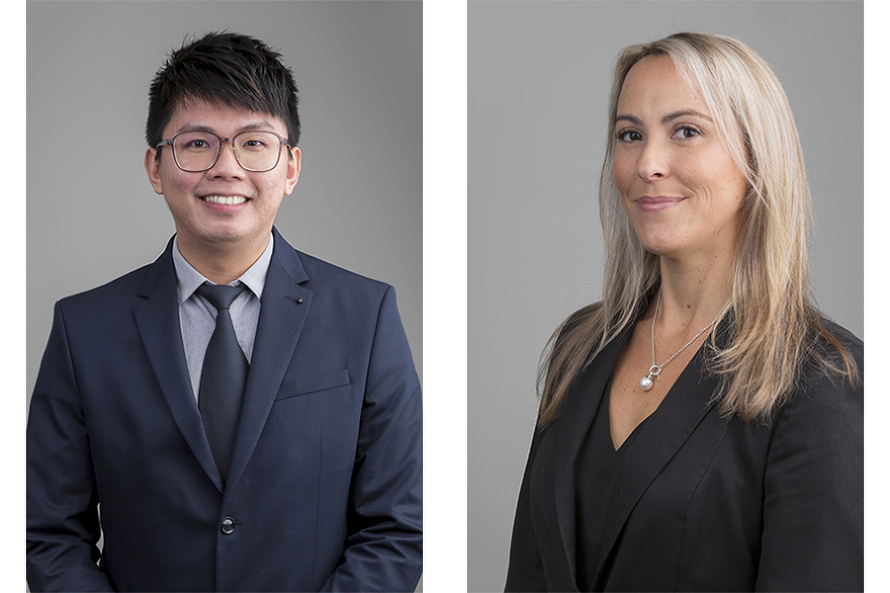 Two examples of good corporate headshots